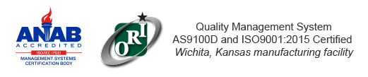 Quality Management System AS9100D and ISO9001:2015 Certified Wichita, Kansas facility