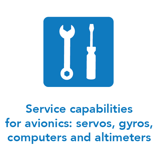 Service capabilities for avionics: servos, gyros, computers and altimeters