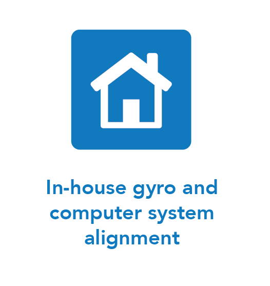 In-house gyro and computer system alignment