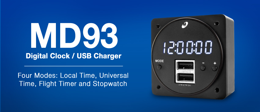 MD93 Digital Clock / USB Charger