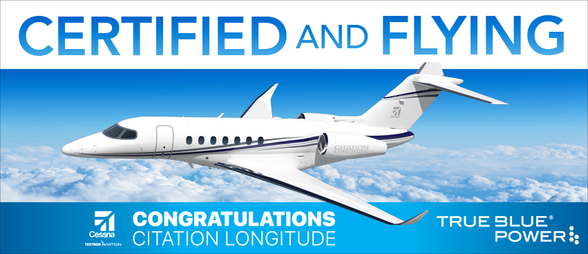 Cessna Citation Longitude Receives Certification