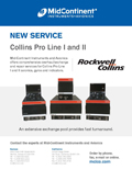 Collins Pro Line I and II overhaul, exchange and repair services