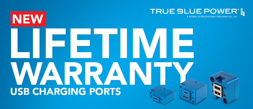New Limited Lifetime Warranty for True Blue Power USB Charging Ports