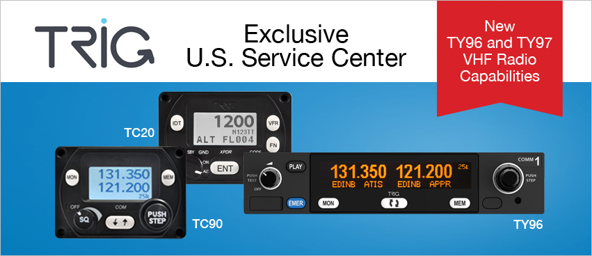 Exclusive U.S. Service Center for Trig Avionics