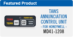 MD41-1208 TAWS Annunciation Control Unit