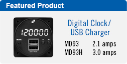MD93 Digital Clock/USB Charging Port