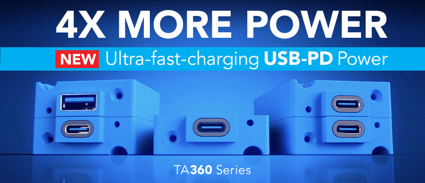 TA360 Series USB Power Delivery (PD) Charging Port